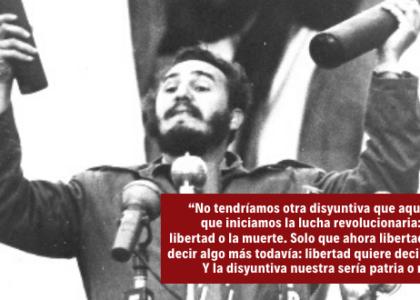 Los cubanos, o tenemos la Patria, o preferimos la muerte